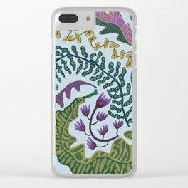 Muddy Wavy Foliage Clear iPhone Case