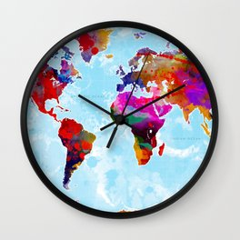 World Map - 3 Wall Clock