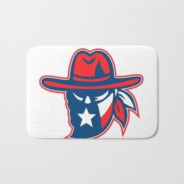 Texan Outlaw Texas Flag Mascot Bath Mat