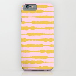 Macrame Stripes in Mustard Yellow and Light Pink iPhone Case