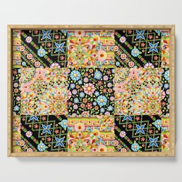 Crazy Crazy Printed Patchwork Serving Tray