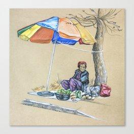 Korean Ajumma #2 Canvas Print