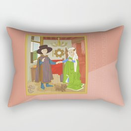 Arnolfini Portrait by Jan Van Eyck Rectangular Pillow