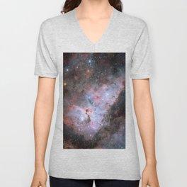 Stars in Space Astronomy Art Unisex V-Neck