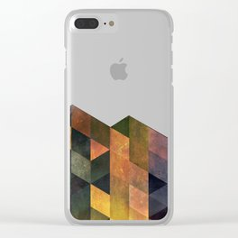 Graphic // isometric grid // chyynxxys Clear iPhone Case
