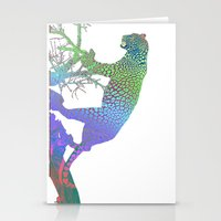 jaguar Stationery Cards featuring jaguar by AtelierWhite