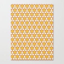 Spring flower trefoil seamless pattern. Canvas Print