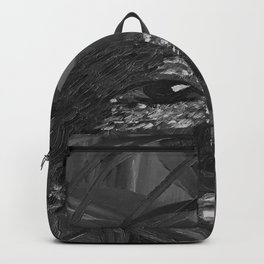 Flying Nature by Lu, black-and-white Backpack
