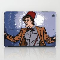 fez iPad Cases featuring ain't never gonna do it without the fez on by Melvin Pena