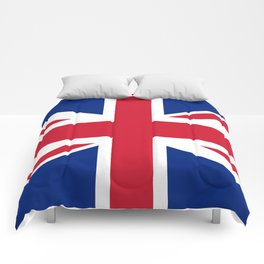 UK FLAG - The Union Jack Authentic color and 3:5 scale  Comforters