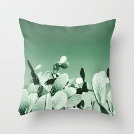 Cactus prickly pear Throw Pillow