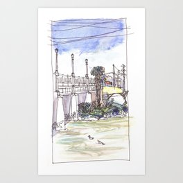 Ducks in the River Art Print