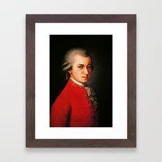 Wolfgang Amadeus Mozart portrait Framed Art Print