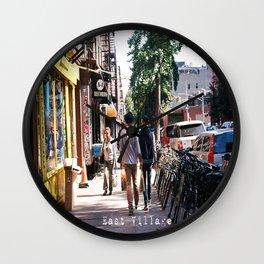 East Village Morning  Wall Clock