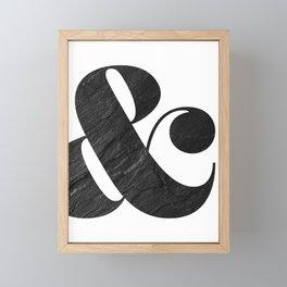graphite ampersand Framed Mini Art Print