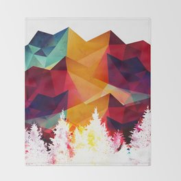 Forest made of color Throw Blanket
