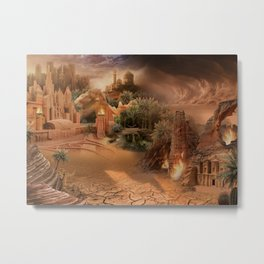 Desert paradise on the edge of Hell - Sandstorm Metal Print