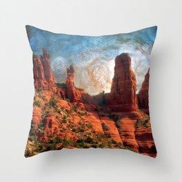 Van Goghs Sedona Vortex Throw Pillow