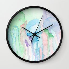Watercolor Jellies Wall Clock