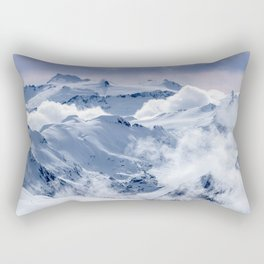 Snowy Mountains and Glaciers Rectangular Pillow