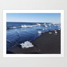 Diamond Beach in Iceland Art Print