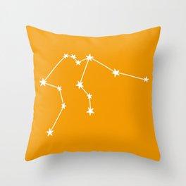 Aquarius (White & Orange Sign) Throw Pillow