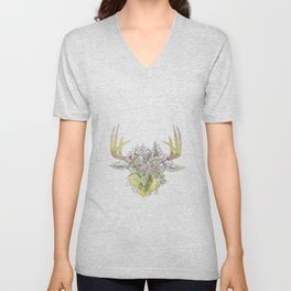 Horns Bohemian Deer #2 Unisex V-Neck