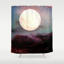 Tonight, I Am Dreaming That We Can Sleep Under The Same Moon. Shower Curtain