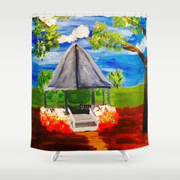Meet Me at the Gazebo Shower Curtain