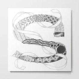 "Zenletter ""S"" Metal Print"