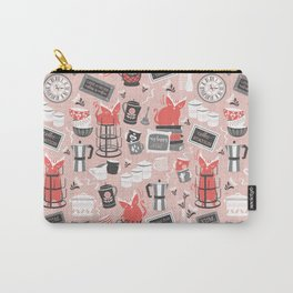 Modern farmhouse coffee station // pink Carry-All Pouch
