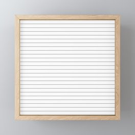 White Black Lines Minimalist Framed Mini Art Print