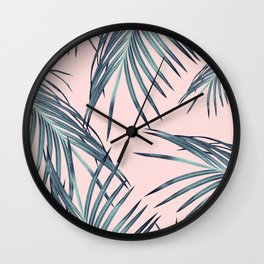 Blush Palm Leaves Dream #1 #tropical #decor #art #society6 Wall Clock