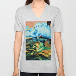 Ram and Polar Bear in the Sky Unisex V-Neck