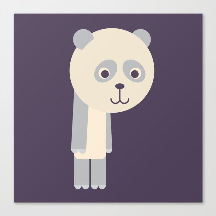 Letter P // Animal Alphabet // Panda Monogram Canvas Print