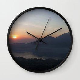 Mount Batur Sunrse - Bali Wall Clock