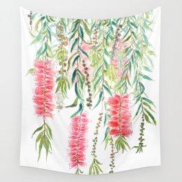 bottle brush tree flower Wall Tapestry