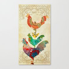 Chinese Lunar New Year and 12 animals  ❤  The ROOSTER 雞 Canvas Print