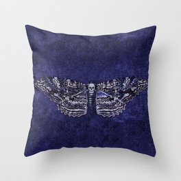 Deathshead Moth Throw Pillow