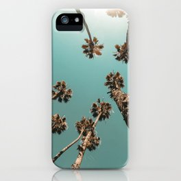 {1 of 2} Palm Trees = Happy // Teal Summer Sky iPhone Case