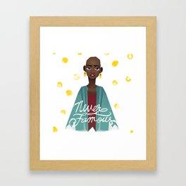 Never Famous Framed Art Print