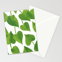 Green leaves eternal spring Stationery Cards