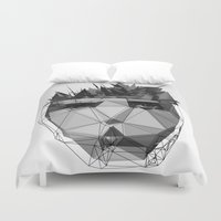 radiohead Duvet Covers featuring no surprises by PandaGunda