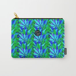 Cannabis Print Green and Blue Carry-All Pouch