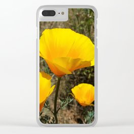 Poppies on the Trail Clear iPhone Case