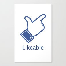 Likeable Canvas Print