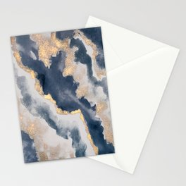 All that Shimmers – Gold + Navy Geode Stationery Cards