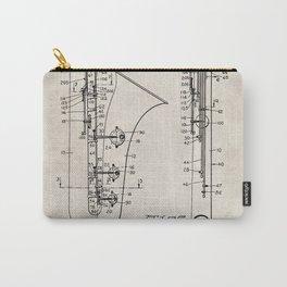 Selmer Saxophone Patent - Saxophone Art - Antique Carry-All Pouch