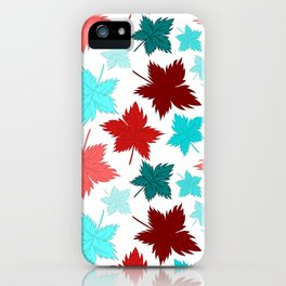 Maple Leaves - Colorful Bright Pattern iPhone Case
