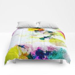 Abstract Paint Splatter Art Comforters